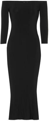 Norma Kamali Off-the-shoulder jersey midi dress