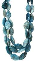 Nest Teal Apatite Triple Strand Necklace