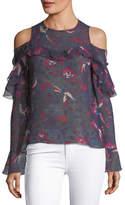 Tanya Taylor Georgina Floral-Print Silk Blouse