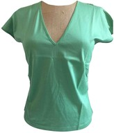 Malo Green Cotton Top for Women