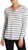 Chaser Striped Waffle Knit Long Sleeve Shirt