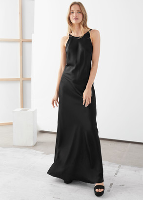 And other stories Fitted Scoop Back Maxi Dress