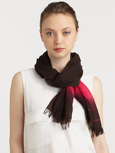 Marc by Marc Jacobs Wool Lida Stripe Scarf
