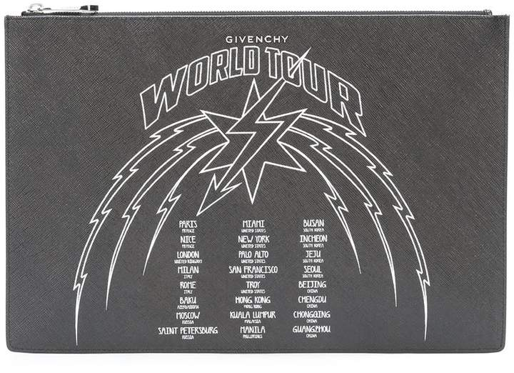 Givenchy World Tour logo clutch