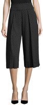 Nicole Miller Ditzy Dot Stretch Crepe Cropped Pant