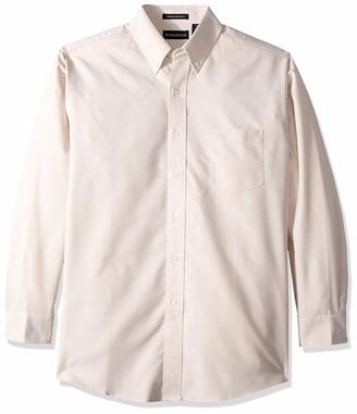 RETOV Men's Classic Wrinkle-Free Long-Sleeve Oxford