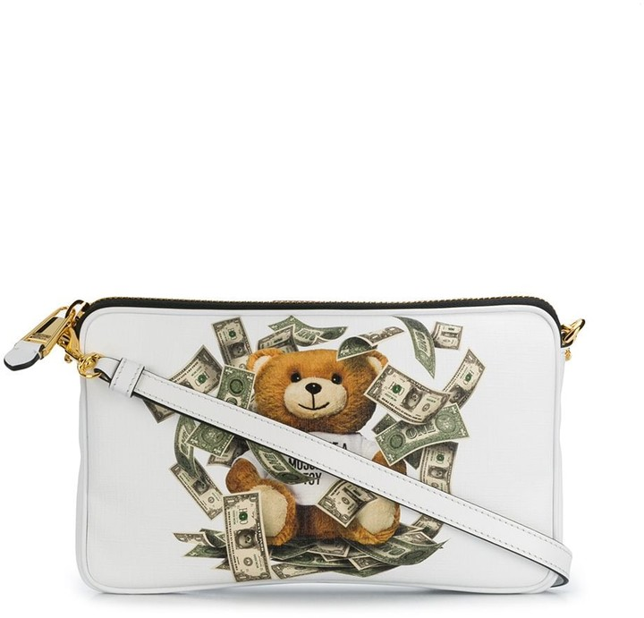 Moschino Teddy Bear Zipped Clutch