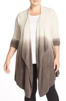 Barefoot Dreams Drape Front Cardigan (Plus Size) (Nordstrom Exclusive)