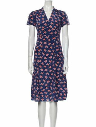 HVN Silk Midi Length Dress w/ Tags Blue