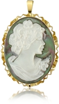 Del Gatto Woman Mother of Pearl Cameo Pendant/Pin
