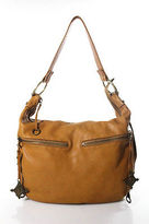 Linea Pelle Brown Leather Hobo Shoulder Handbag