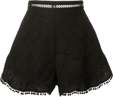 Zimmermann High-Rise Ruffled Shorts