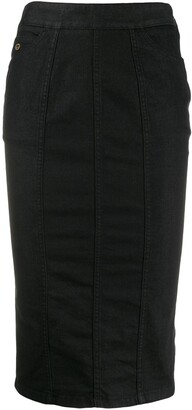 Gucci Pre-Owned 2000's Denim Pencil Skirt