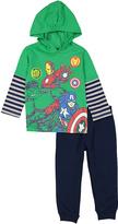Children's Apparel Network Avengers Hooded Tee & Sweatpants - Toddler & Boys
