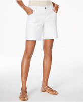 INC International Concepts Embroidered Denim Shorts, Created for Macy's