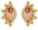 Miguel Ases Swarovski Cone Cuff Drop Earrings