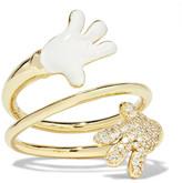Alison Lou + Hasbro Bypass 14-karat Gold, Diamond And Enamel Ring - 6