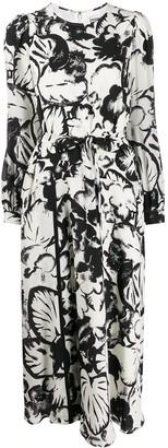 Essentiel Antwerp Vogel tie-waist dress