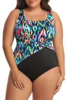 Longitude Plus Twist Sash One-Piece Swimsuit