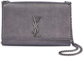 Saint Laurent Kate Medium Antique Calfskin Leather Crossbody Bag, Ruthenium Hardware