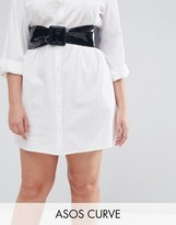 Asos 80s Patent Waist Sash Belt With Square Buckle