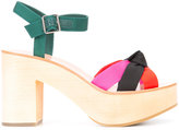Loeffler Randall 'Elsa' sandals - women - Leather/Viscose/wood/rubber - 6