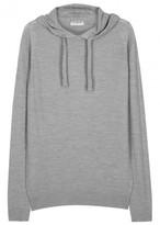 John Smedley Grey Hooded Fine-knit Wool Jumper