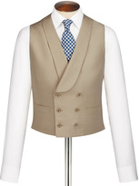 Charles Tyrwhitt Buff linen morning suit waistcoat