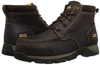 Ariat Edge LTE Chukka Waterproof Composite Toe (Dark Brown) Men's Work Boots