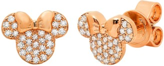 Disney Minnie Mouse Icon Stud Earrings by CRISLU Rose Gold