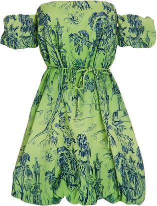 STAUD Ash Off-the-Shoulder Mini Dress