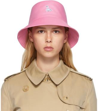 Burberry Pink Swan Applique Bucket Hat