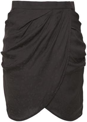 IRO Reifer Wrap-effect Satin-jacquard Mini Skirt