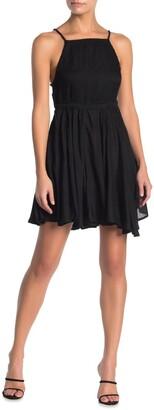 BOHO ME Square Neck Chambray Mini Cover-Up Dress