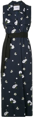 Erdem Rian floral-embroidered sleeveless coat