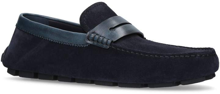 Ermenegildo Zegna Suede Asola Driving Shoes