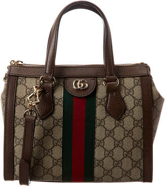 Gucci Ophidia Small Gg Supreme Canvas & Leather Tote