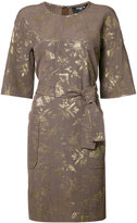 Paule Ka belted pocket dress - women - Cotton/Polyester/Acetate/Cupro - 42