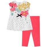 Catimini CatiminiBaby Girls Floral Dress & Pink Leggings Set