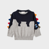 Paul Smith Baby Boys' Cotton-Cashmere 'Dinosaur' Sweater With Arm Fringing