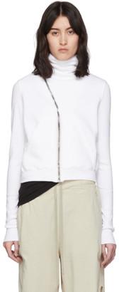 Rick Owens White Mountain Asymmetric Zip-Up Sweater