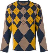 Joseph Ls-Argyle knit jumper