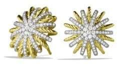 David Yurman Starburst Small Earrings with Diamonds in Gold