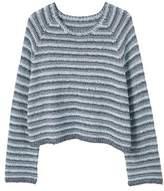 MANGO Flecked striped sweater