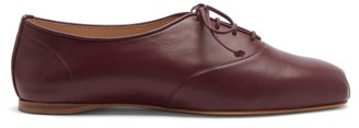 Gabriela Hearst Maya Square-toe Nappa-leather Oxford Shoes - Burgundy