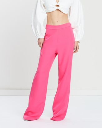 Missguided Woven Crepe Wide Leg Trousers