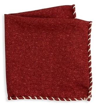 Brunello Cucinelli Whipstitch Pocket Square