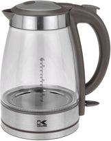 Kalorik 1.7 Liter Cordless Electric Glass Kettle in Grey