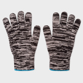 Paul Smith Men's Black Space Dye Wool Gloves