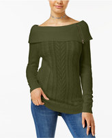 Hooked Up by Iot Juniors' Off-The-Shoulder Sweater
